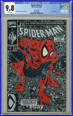 1990 Spider-Man 1 CGC 9.8 Green, Silver & Gold Covers Variants Set Lot