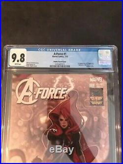 A-FORCE #1 Variant 150 HUGHES Cover 1st A-FORCE (Team) & SINGULARITY CGC 9.8