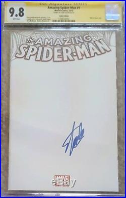 Amazing Spider-Man #1 blank cover variant CGC 9.8 SS Signed by Stan Lee (RARE)