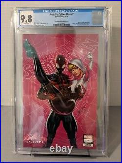 Amazing Spider-Man #2 Miles Morales Gwen Stacy Cover E CGC 9.8 Campbell Variant