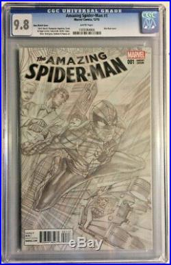 Amazing Spiderman #1 Alex Ross 1200 Sketch Variant Cover Edition Cgc 9.8