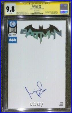 Batman #50 Blank cover variant CGC 9.8 SS Signed by Michael Keaton