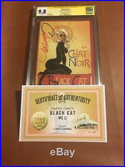 Black Cat #1 Variant Cover D CGC SS 9.8 Signed By Campbell WithCOA La Chat Noir