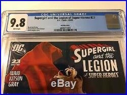 CGC 9.8 Supergirl and the Legion of Super-Heroes #23 Hughes Variant Cover L@@K