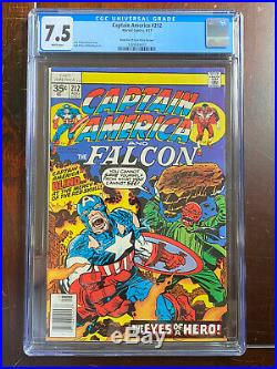 Captain America #212 (1977) CGC 7.5 Blank Bar 35 Cent Price Variant W Pages