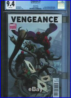 Cgc 9.4 Vengeance #1 Rare Variant Cover White Pages 1st App Miss America Chavez