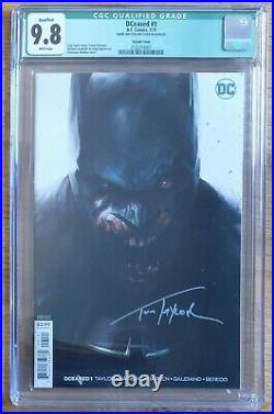 Cgc 9.8 Dceased #1 Mattina Variant Cover Signed By Tom Taylor