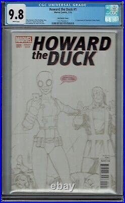 Cgc 9.8 Howard The Duck #1 LIM Sketch Variant Cover 1st Appearance Gwenpool