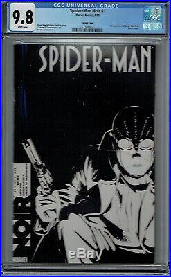 Cgc 9.8 Spider-man Noir #1 1st Appearance Variant Calero Sketch Cover