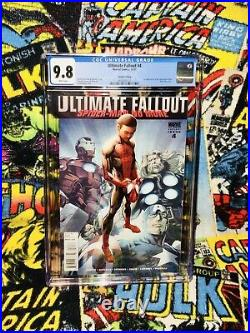 Cgc 9.8 Ultimate Fallout #4 1st Miles Morales (10/2011) 2nd Print Variant Cover