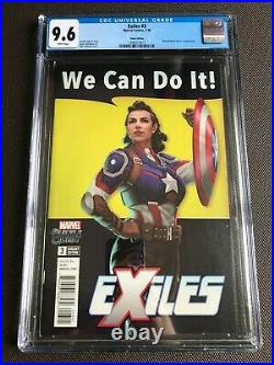 Exiles #3 CGC 9.6 Game Edition Variant Cover Captain Carter