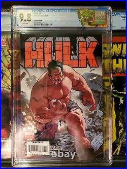 HULK 1 CGC 9.8. ACUNA VARIANT COVER. 1ST APP RED HULK. WHITE PAGES. Hot book