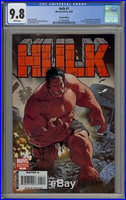 Hulk 1 Cgc 9.8. Acuna Variant Cover. 1st App Red Hulk. White Pages