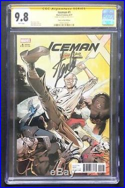 Iceman #1 CGC 9.8 SS signed Stan Lee 2017 Box Edition variant cover Marvel