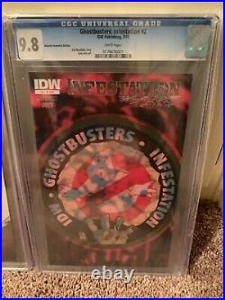 Idw Infestation Ghostbusters (2011) #1-2 Rare Cgc 9.8 Ri Cover Variant Set