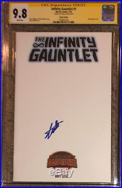 Infinity Guantlet #1 blank cover variant CGC 9.8 SS Signed by Stan Lee (RARE)