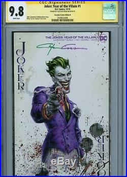 Joker Year Of The Villian #1 Variant Cover B Cgc 9.8 Ss Signed By Clayton Crain