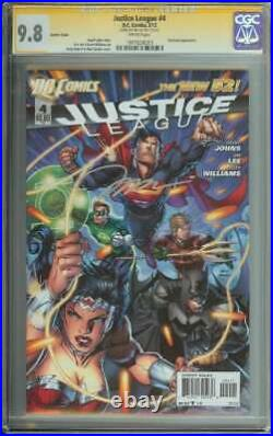Justice League #4 SS CGC 9.8 Variant Cover Signed Jim Lee Auto