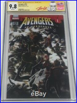 Marvel Avengers #675 Lenticular 3-D Cover Variant Signed by Stan Lee CGC 9.8 SS