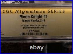 Moon Knight #1 Sienkiewicz Variant Cover 9.6 CGC Signed By Stan Lee