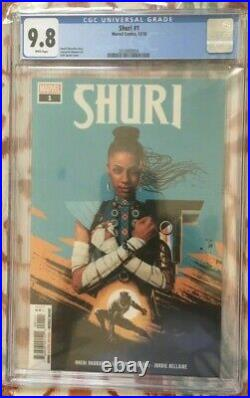 New Black Panther 1st series Shuri 1 CGC 9.8 Direct Variant Cover mcu Marvel