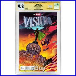 Paul Bettany Autographed 2016 The Vision #1 Sook Variant Cover CGC SS 9.8 Mint