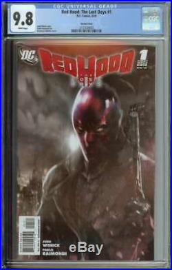 Red Hood The Lost Days #1 CGC 9.8 Mattina Variant Cover