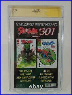 SPAWN #300 CGC 9.8 MCFARLANE 150 VIRGIN COVER L Signed by Todd McFarlane