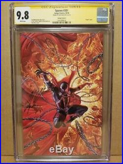 SPAWN #301 CGC 9.8 SS ALEX ROSS SIGNED VIRGIN COVER L VARIANT 2019 McFARLANE