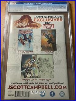 SPIDER-GWEN #1 CGC 9.8 J Scott Campbell Exclusive Variant Cover HTF Rare