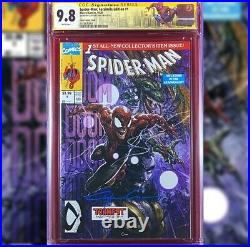 SPIDER-MAN FACSIMILE #1 VARIANT COVER CGC 9.8 SS SIGNED BY CLAYTON CRAIN WithCOA