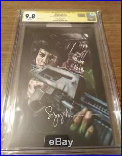 Sigourney Weaver Autographed Aliens #4 Variant Cover CGC SS 9.8
