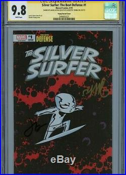 Silver Surfer #1 Variant Cover Cgc 9.8 Ss Signed By Skottie Young & Jason Latour