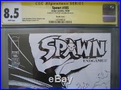 Spawn #185 B&W Sketch Cover Variant CGC SS Signed Todd McFarlane Very Rare