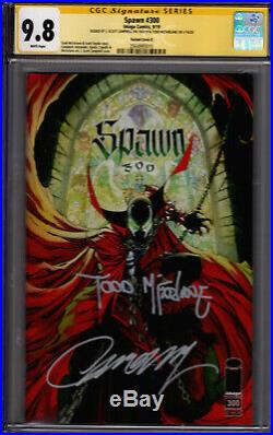 Spawn #300 Campbell Variant Cover G! CGC SS 9.8! Sigs by McFarlane & Campbell
