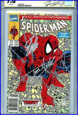 Spider-Man 1990 1 CGC 9.8 SS X2 Green variant cover Stan Lee McFarlane Holland