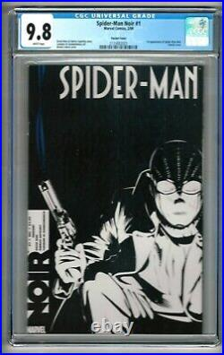 Spider-Man Noir #1 (2009) CGC 9.8 White Pages Hine Calero Variant Cover