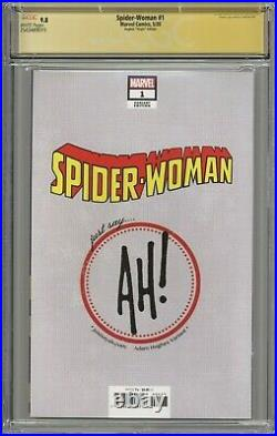 Spider-Woman #1 CGC 9.8 SS Adam Hughes Virgin Edition Variant Cover Signed 2020