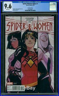 Spider-Women Alpha 1 CGC 9.6 White Pages Lee Variant Cover