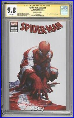 Spider-man Annual #1 Scorpion Variant Cover Signed By Clayton Crain Cgc 9.8