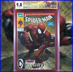 Spider-man Facsimile #1 Variant Cover Cgc 9.8 Ss Signed By Clayton Crain