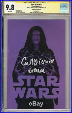 Star Wars #58 Variant Cover CGC 9.8 Signed by Ian McDiarmid (Emperor)