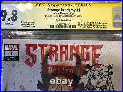 Strange Academy 1 CGC 9.8 SS/ Remarked Comic Mint A Cover Peach Momoko Variant