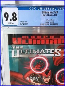 THE ULTIMATES 3 #3 Marvel VARIANT RETAILER INCENTIVE COVER FRANK CHO CGC 9.8