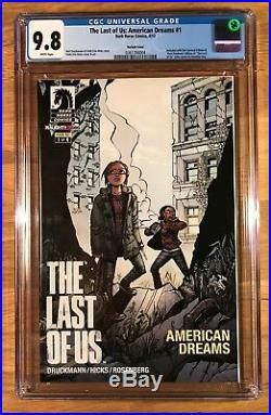 The Last of Us American Dreams 1, Variant Cover, CGC 9.8, graded NM/MT