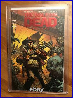 The Walking Dead Deluxe #1 RED FOIL Exclusive Skybound Variant Cover NM TWD CGC