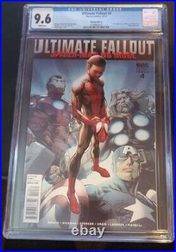 Ultimate Fallout #4 1st Miles Morales (10/2011) 2nd Print Variant Cover Cgc 9.6