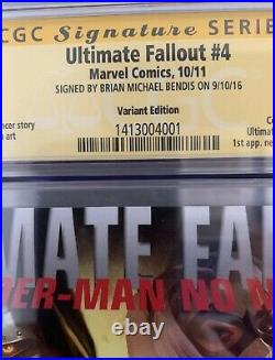 Ultimate Fallout #4 Miles Morales Djurdjevic Variant 125 CGC 9.0 Bendis Signed