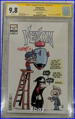 Venom #23 CGC 9.8 SS Signed Skottie Young NM Young Variant Cover White Pages