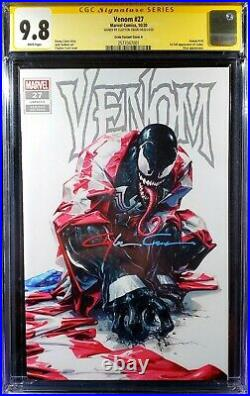 Venom #27 WHITE COVER B Trade variant CGC SS 9.8 SIGNED BY CLAYTON CRAIN
